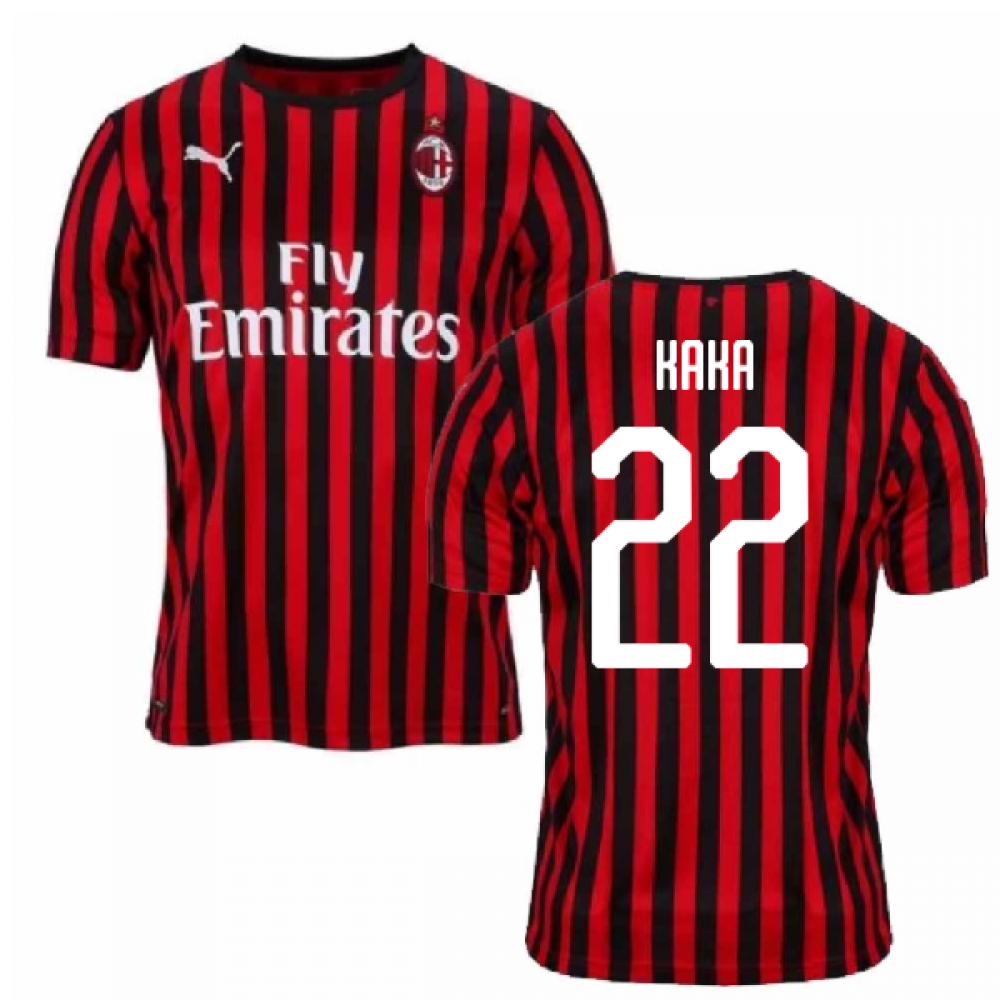 2019-2020 AC Milan Puma Authentic Home Football Shirt (KAKA 22)