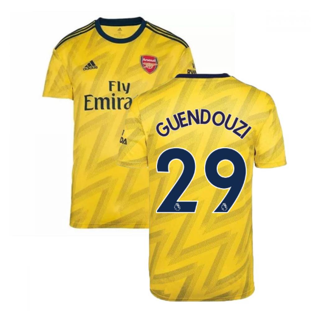 2019-2020 Arsenal Adidas Away Football Shirt (GUENDOUZI 29)