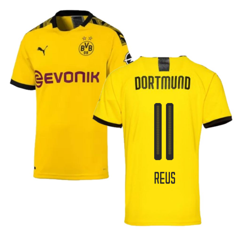 2019-2020 Borussia Dortmund Puma Authentic Home Football Shirt (REUS 11)