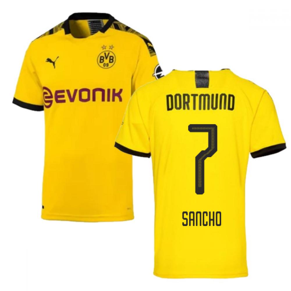 2019-2020 Borussia Dortmund Puma Authentic Home Football Shirt (SANCHO 7)