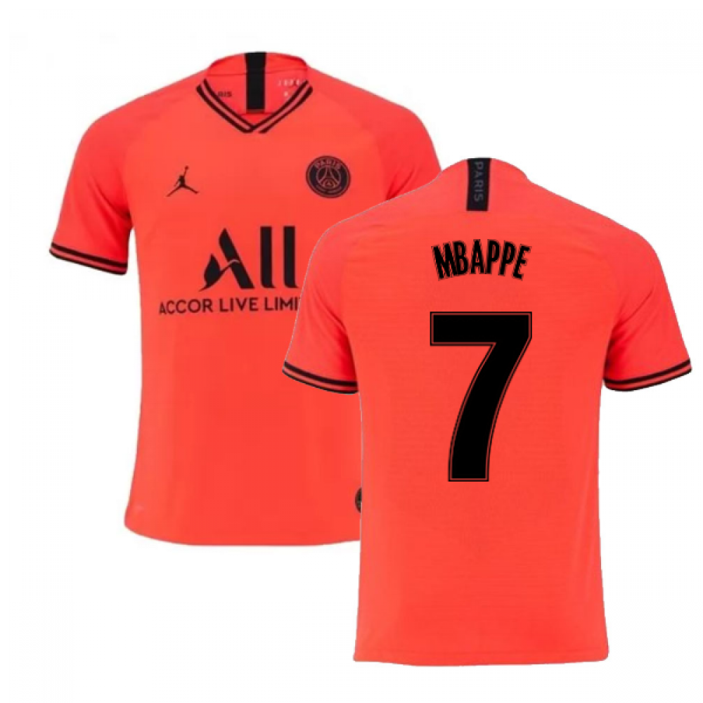 2019-2020 PSG Authentic Vapor Match Away Nike Shirt (MBAPPE 7)