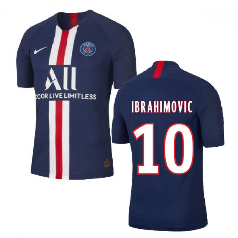 2019-2020 PSG Authentic Vapor Match Home Nike Shirt (IBRAHIMOVIC 10)