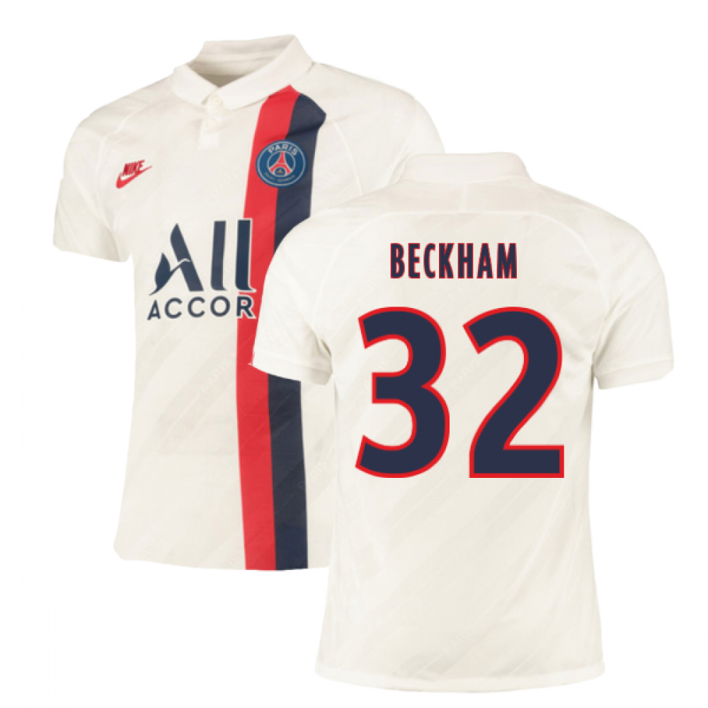2019-2020 PSG Authentic Vapor Match Third Nike Shirt (BECKHAM 32)