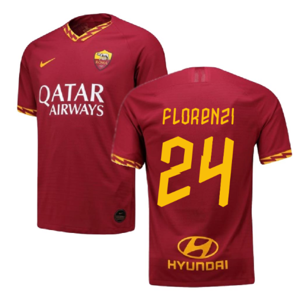 2019-2020 Roma Authentic Vapor Match Home Nike Shirt (FLORENZI 24)