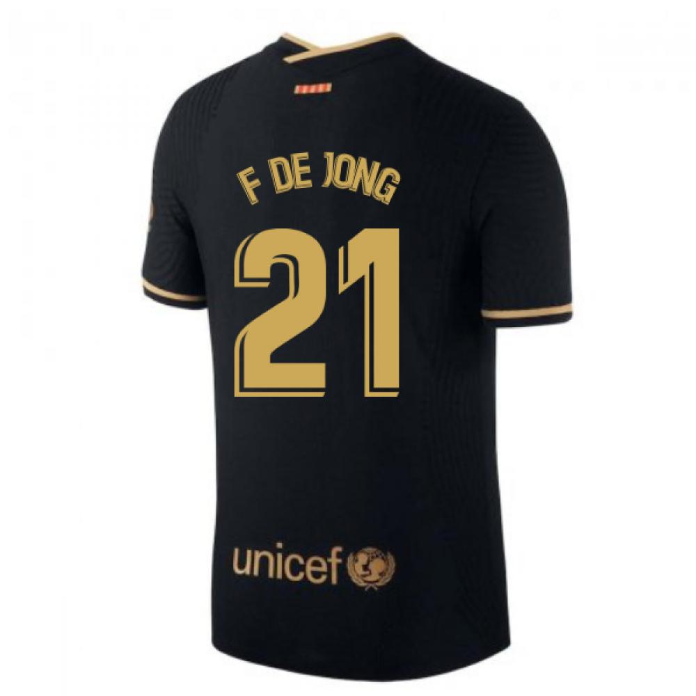 2020-2021 Barcelona Vapor Match Away Nike Shirt (F DE JONG 21)