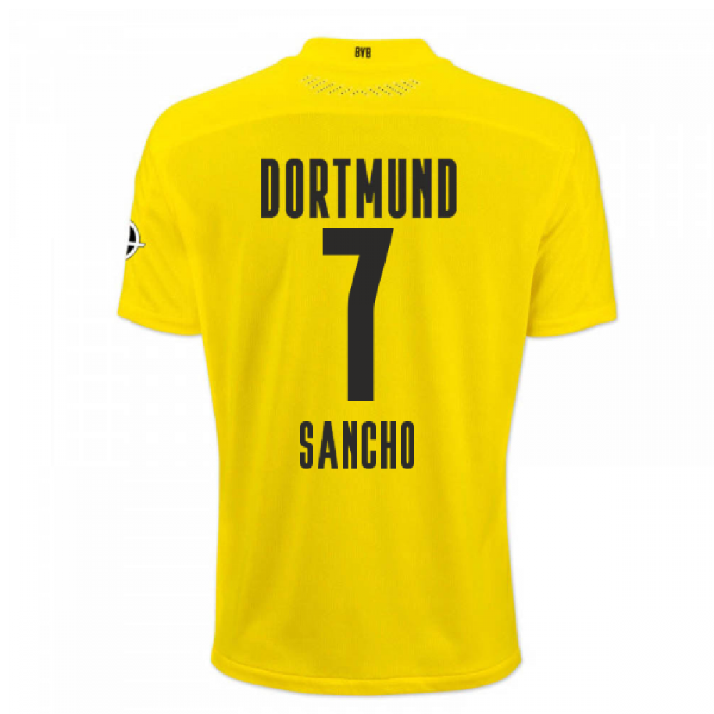 2020-2021 Borussia Dortmund Puma Authentic Home Football Shirt (SANCHO 7)