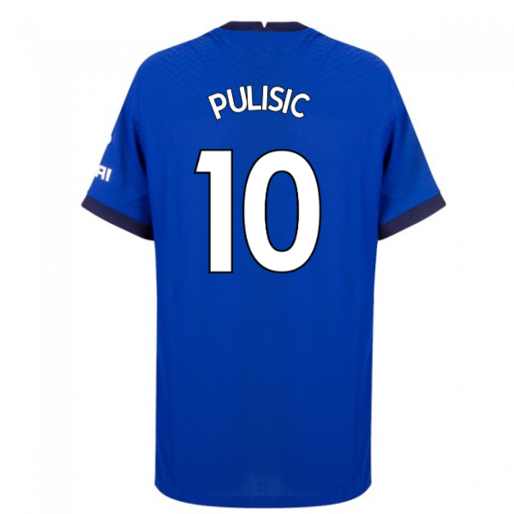 2020-2021 Chelsea Nike Vapor Home Match Shirt (PULISIC 10)