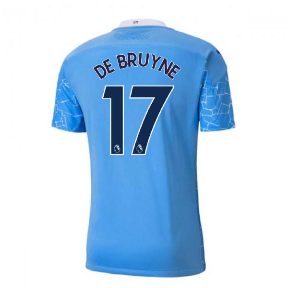 2020-2021 Manchester City Puma Home Authentic Football Shirt (DE BRUYNE 17)