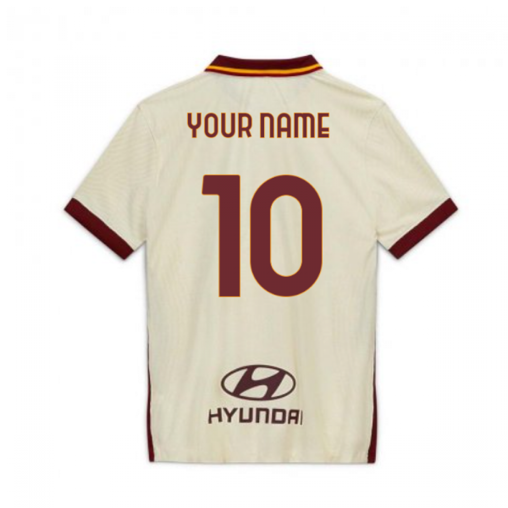 2020-2021 Roma Authentic Vapor Match Away Nike Shirt (Your Name)