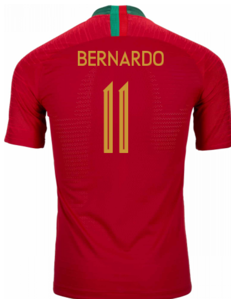 2018-2019 Portugal Home Nike Vapor Match Shirt (Bernardo 11)