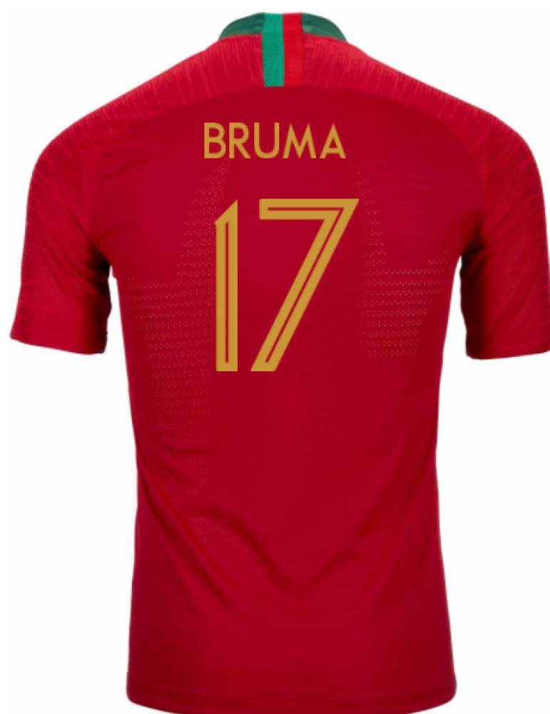 2018-2019 Portugal Home Nike Vapor Match Shirt (Bruma 17)
