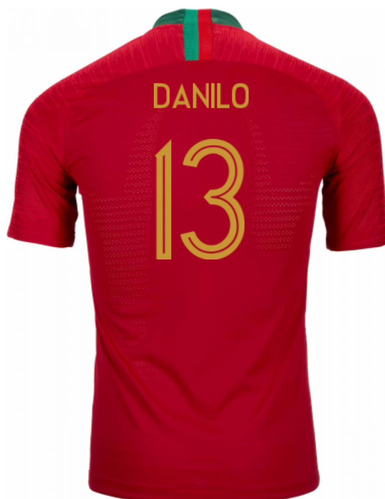 2018-2019 Portugal Home Nike Vapor Match Shirt (Danilo 13)