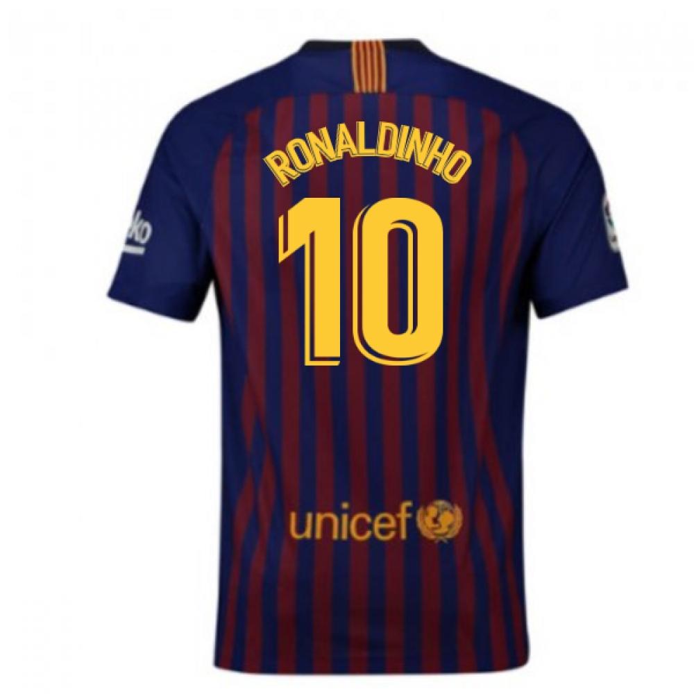 2018-2019 Barcelona Vapor Match Home Nike Shirt (Ronaldinho 10)