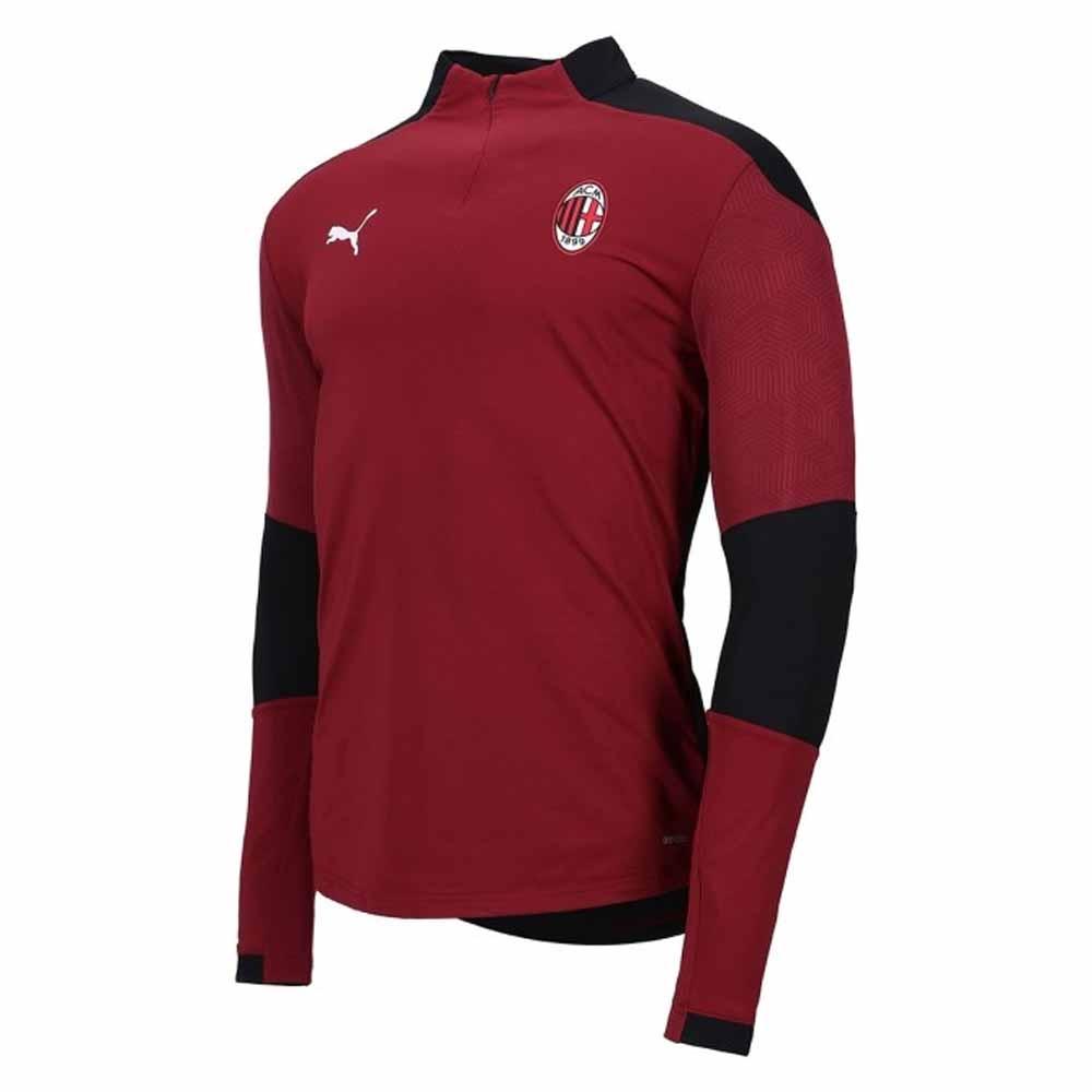 2020-2021 AC Milan 1/4 Zip Training Top (Cordovan)