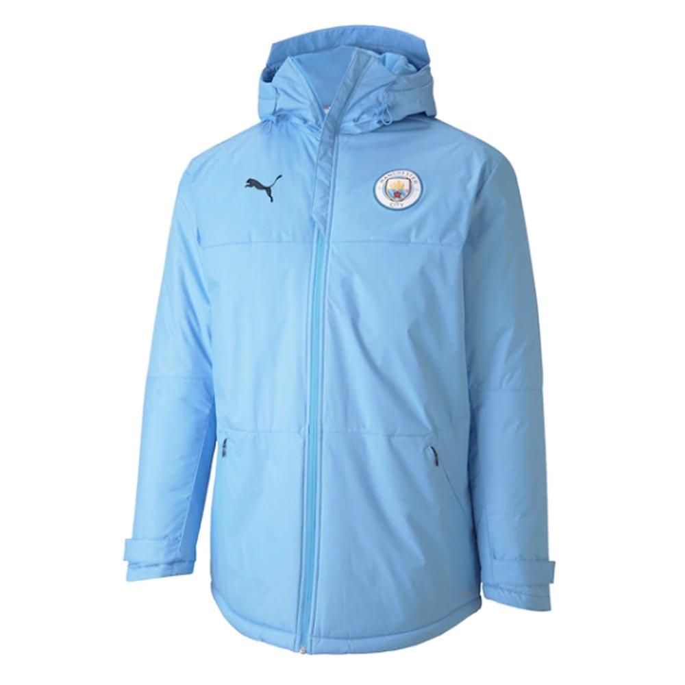 2020-2021 Man City Winter Jacket (Light Blue)