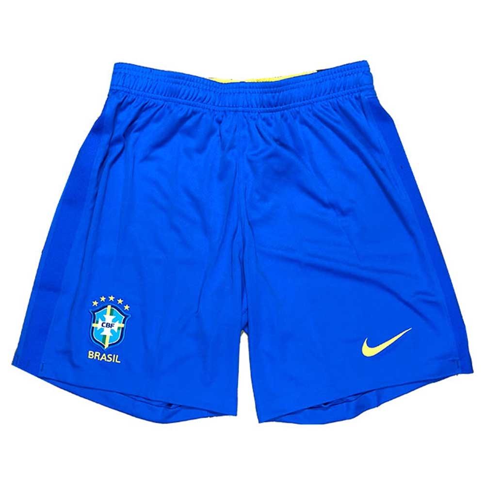 2020-2021 Brazil Home Shorts (Blue)