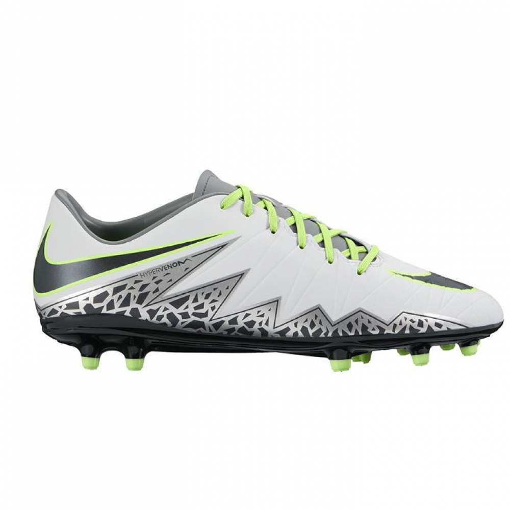 nike hypervenom phelon fg mens football boots white green