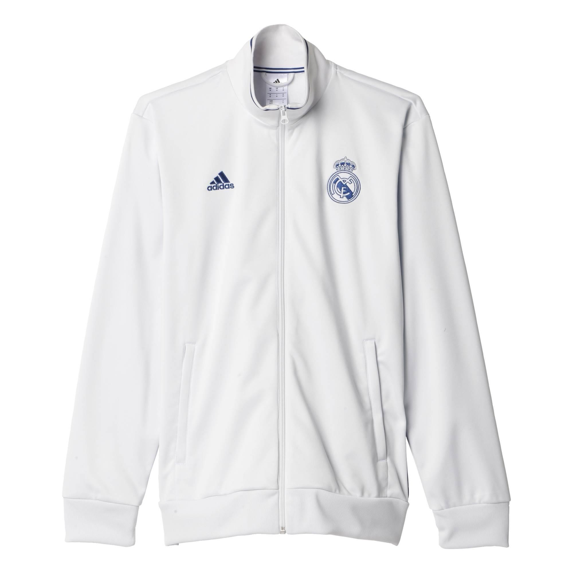 862a5e74564d 2016-2017 Real Madrid Adidas 3S Track Top (White)