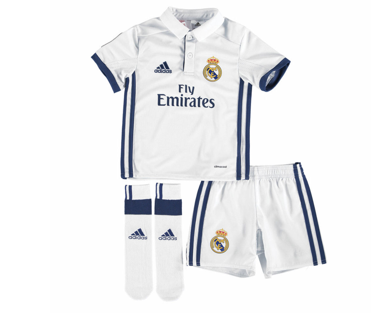 new style 61ba2 fdb90 2016-2017 Real Madrid Adidas Home SMU Mini Kit