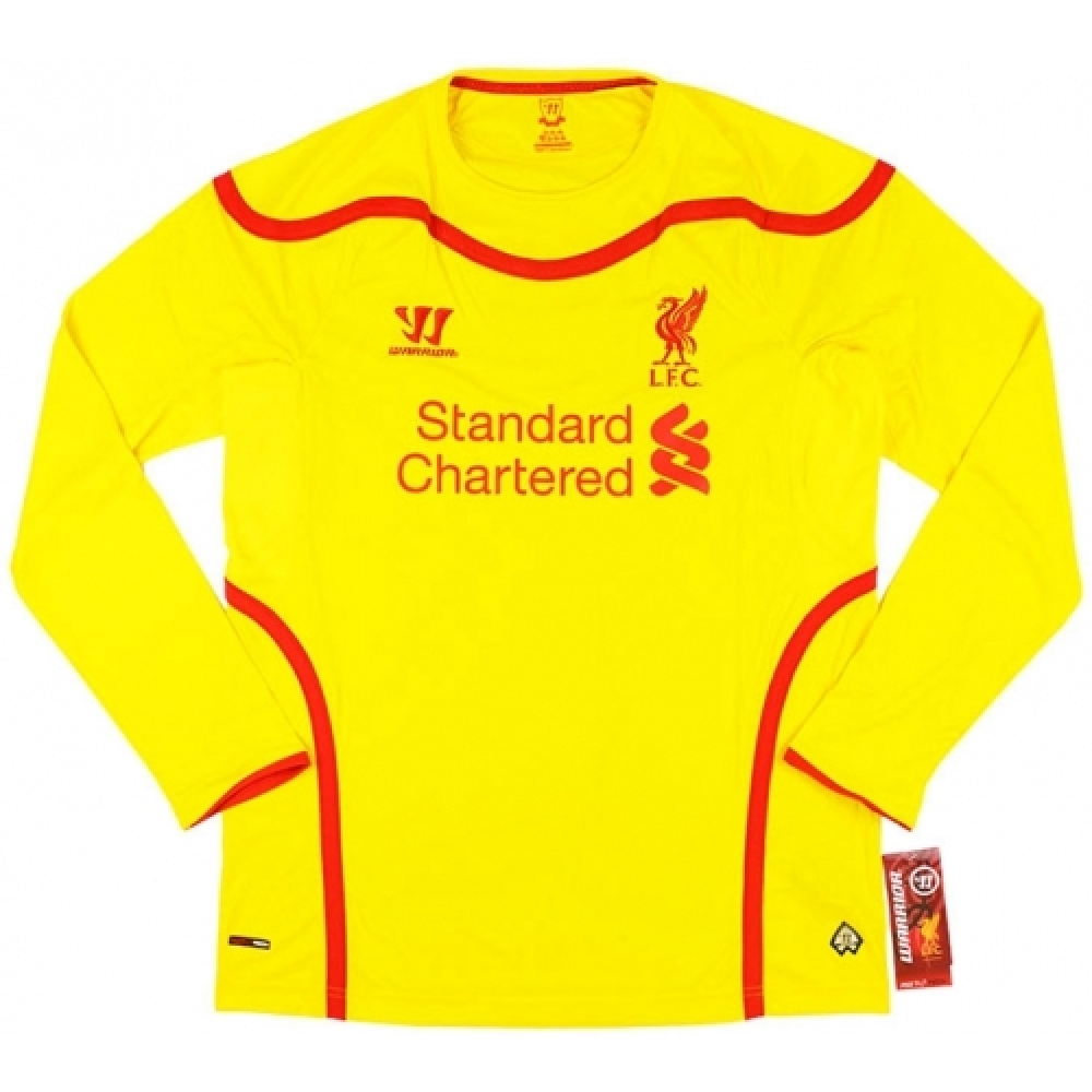 2014-15 Liverpool Warrior Away Long Sleeve Football Shirt