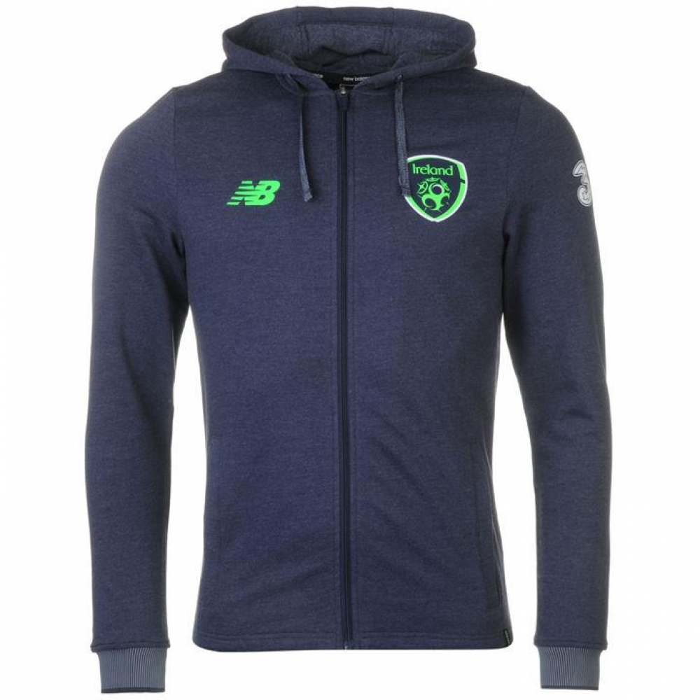 2017-18 Ireland New Balance Full Zip Hoody (Grey)