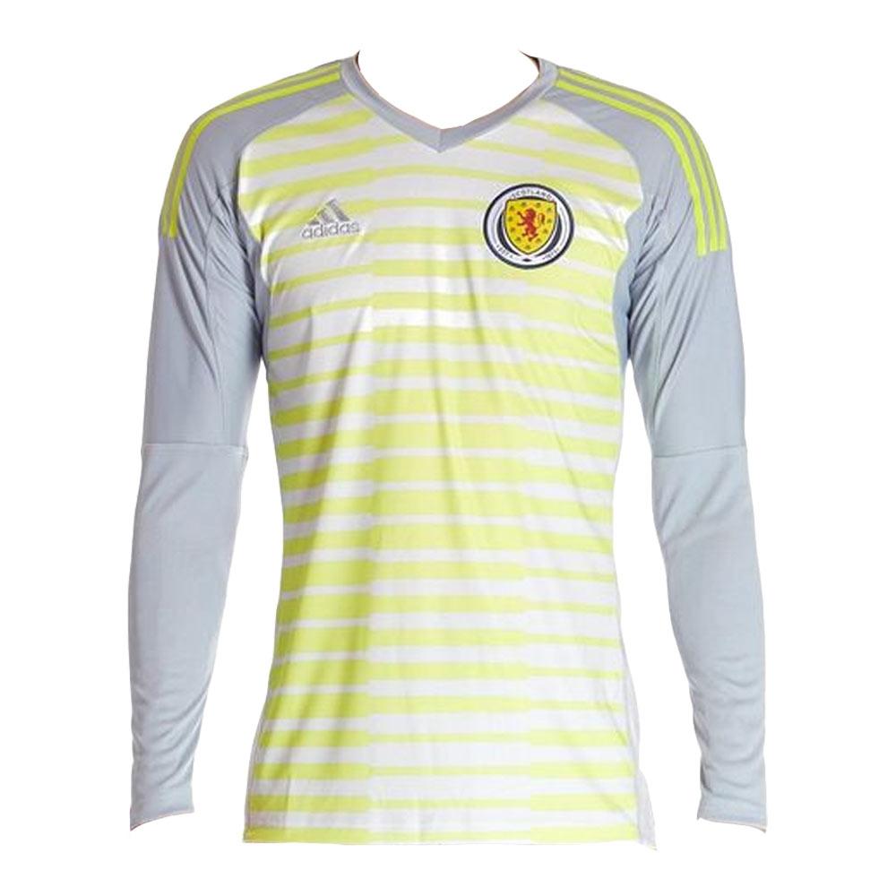 692476fb9 adidas Scotland Kids LS Goalkeeper Home Shirt 2018 | FOOTY.COM