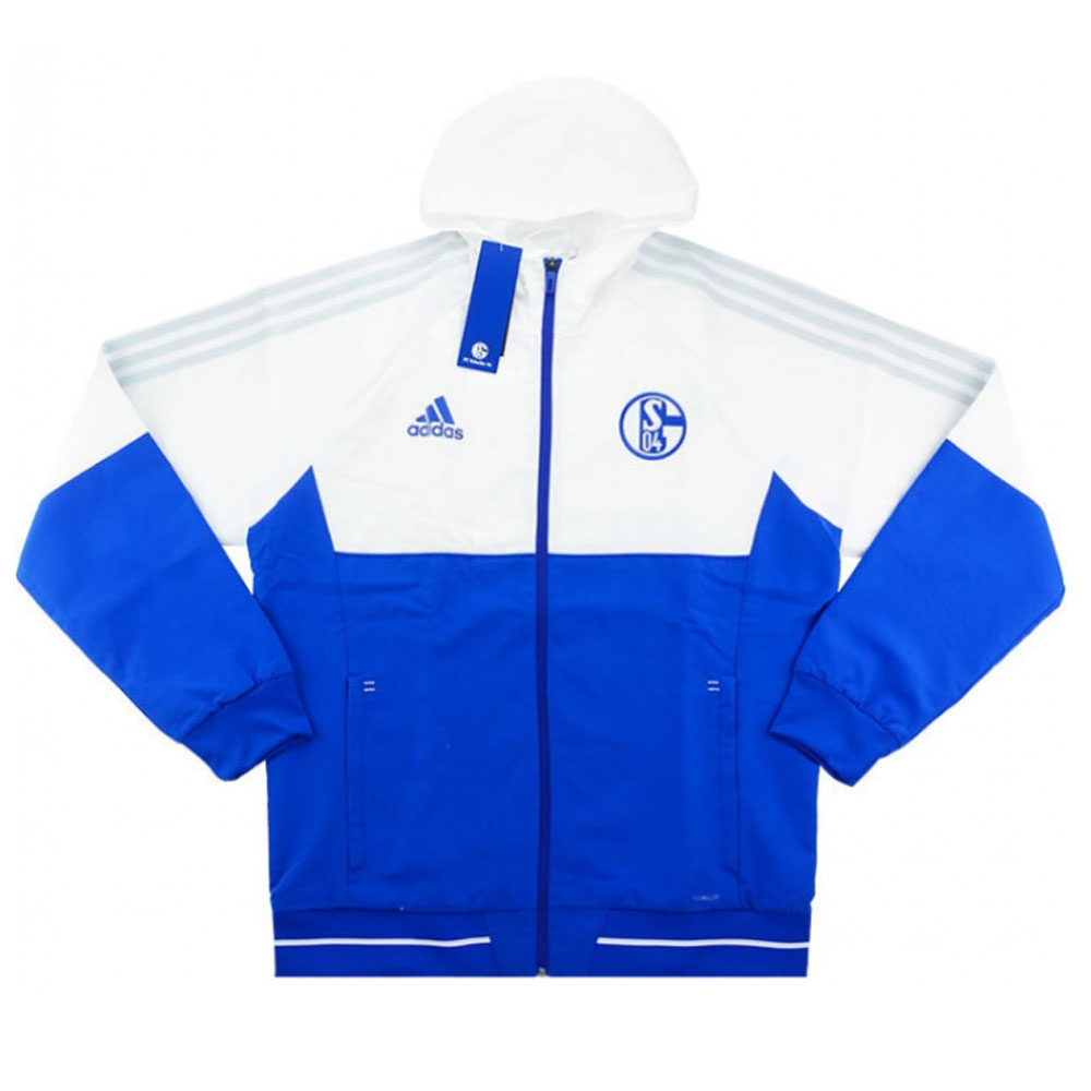 2017 2018 Schalke Adidas Presentation Jacket (Blue)