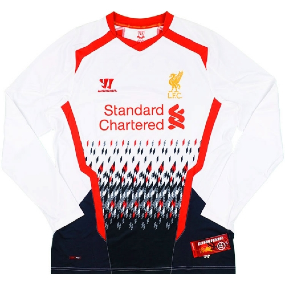 2013-14 Liverpool Warrior Away Long Sleeve Football Shirt