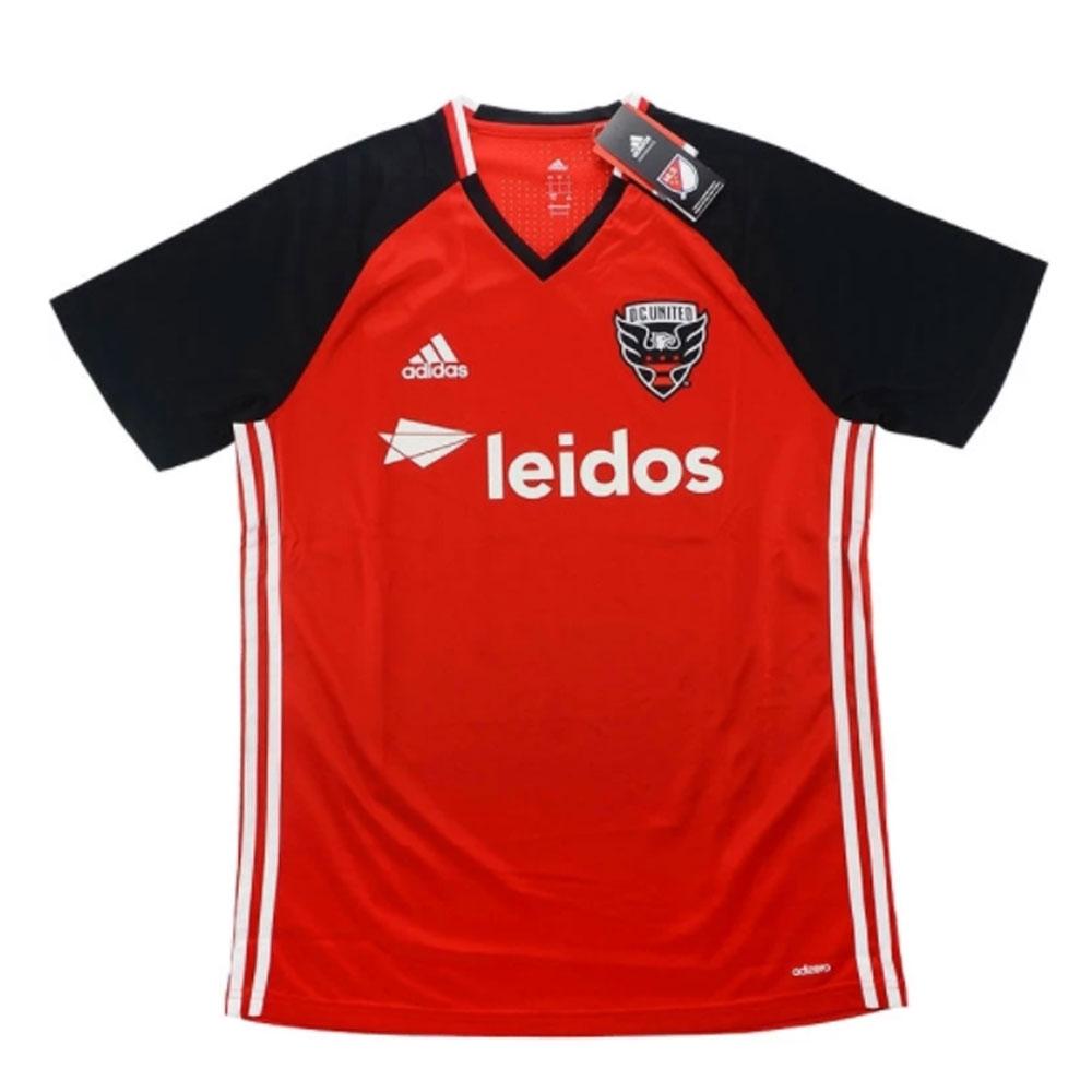 watch 9bdad c4eeb 2016-17 DC United Adidas Training Shirt - Red