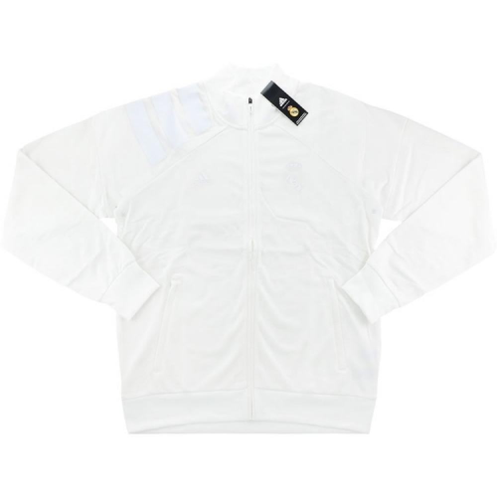 Restringido tímido diario  2017-18 Real Madrid Adidas L.I. Track Jacket (White) - Uksoccershop