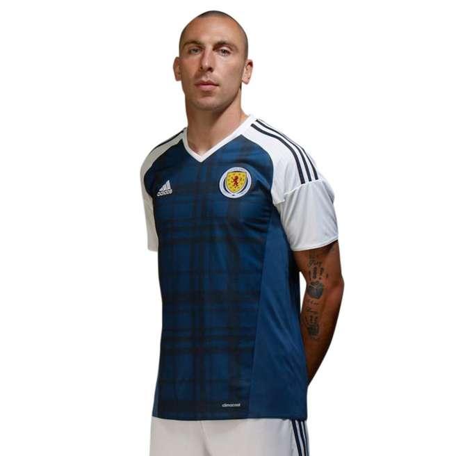 20162017 Scotland Home Adidas Football Shirt