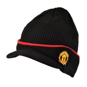 Man Utd Waffle Peak Beanie Hat