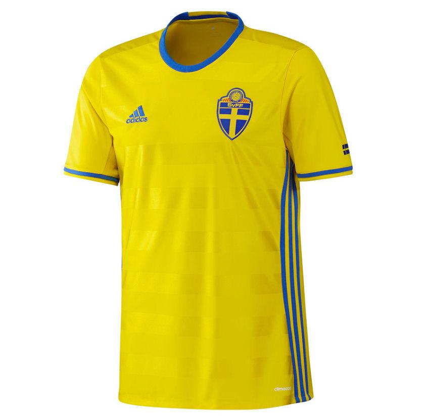 adidas Sweden Kids SS Home Shirt 2016  77cb3b6d5