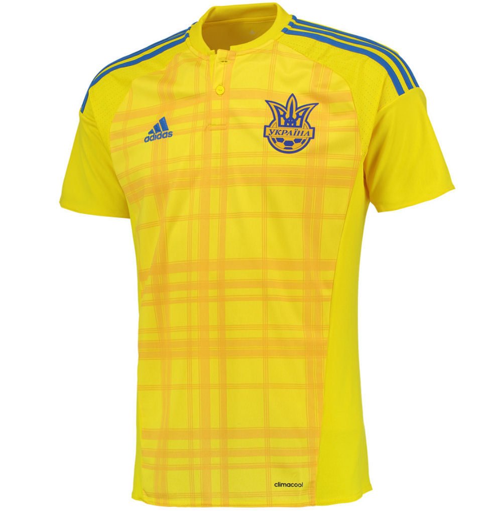 caa9247c9 2016-2017 Ukraine Home Adidas Football Shirt  AC5580  - Uksoccershop